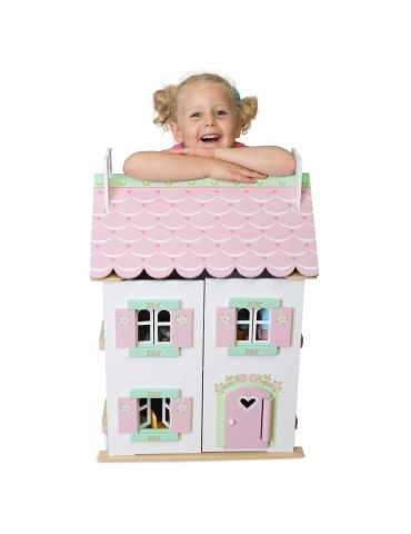 LE TOY VAN SWEETHEART COTAGGE WITH FURNITURE 44x35x63