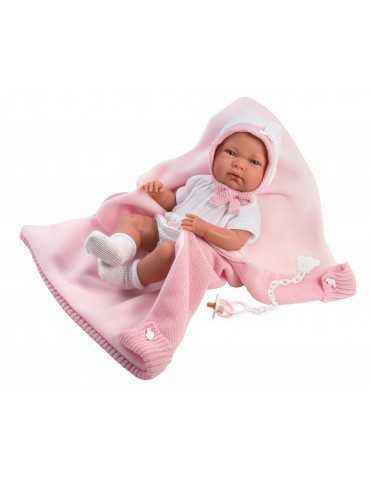 NEWBORN 40cm  GIRL PINK CLOTHES AND BLANKET