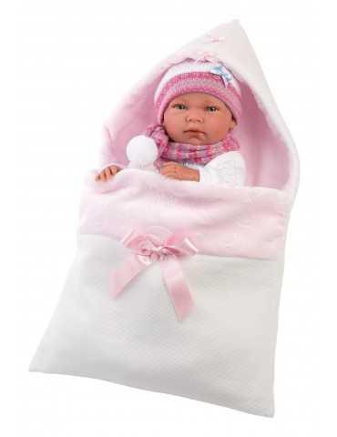 NEWBORN 40cm GIRL WHITE CLOTHES SLEEPING BAG