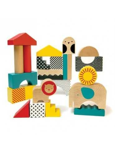 WOODEN BLOCKS ANIMAL 26ΤΕΜ 18+