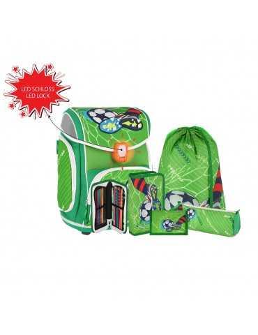SCHOOL BAG S5 FOOTBAL GREEN