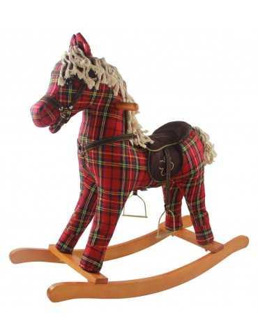 ROCKING HORSE  RED SCOTTISH DESIGN