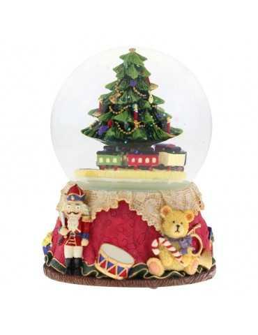 SNOWGLOBE CHRISTMAS TREE WITH TRAIN