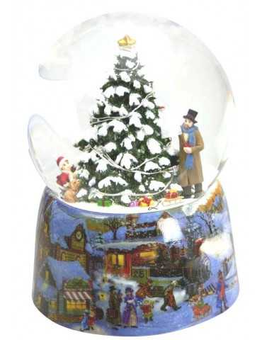 SNOWGLOBE CHRISTMAS TREE WITH GIFTS
