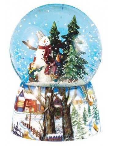 SNOWGLOBE SNOWMAN CHRISTMAS TREE