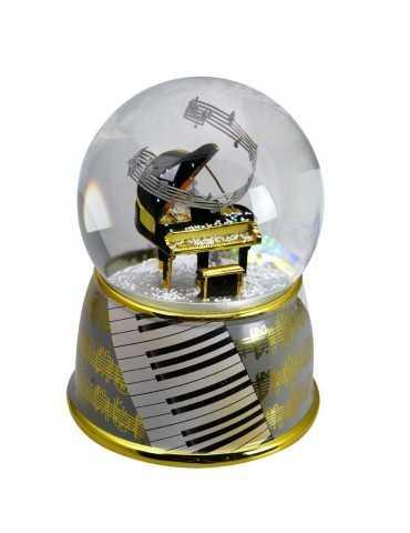 SNOWGLOBE  MUSIC PIANO