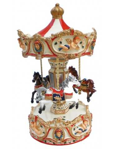 CAROUSEL RED ANGELS  23cm