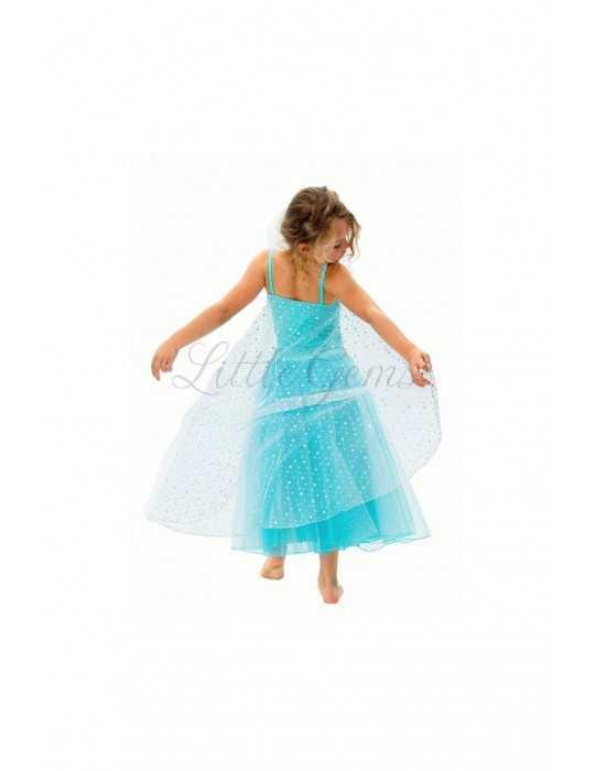 Στολή Elsa με Κάπα Snow Princess Aqua Limited Edition