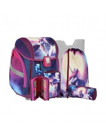 SCHOOL BAG MAGIC UNICORN SET*5 25L