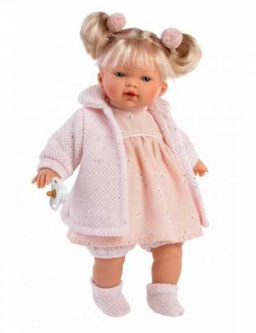 DOLL CRYING  BLONDE PINK CLO