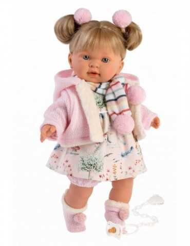 DOLL BLONDE CRYING PINK FLOR