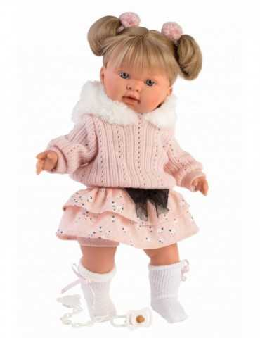 DOLL BLONDE CRYING PINK CLOT