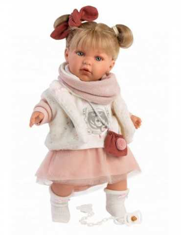 DOLL BLONDE GIRL CRYING WHIT