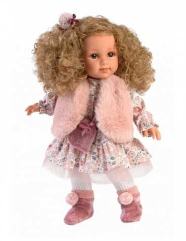 DOLL WITH CURLY HAIR  35cm.