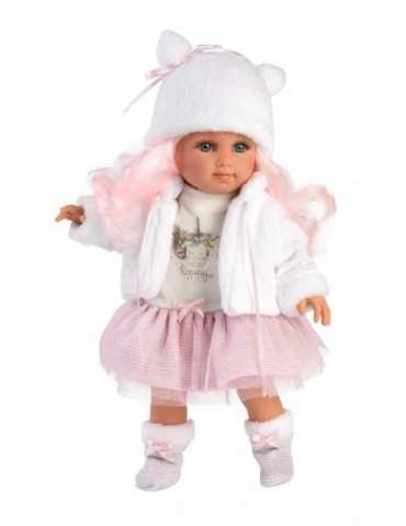 DOLL WITH PINK   HAIR