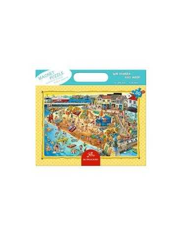 PUZZLE MAGNET*BY THE SEA*30TEM